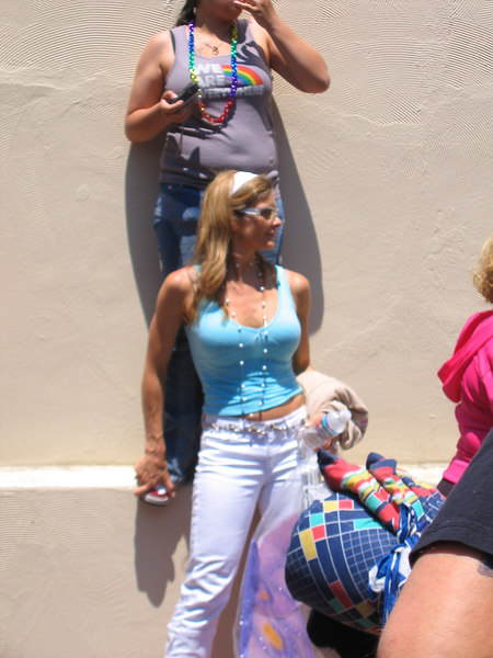 Woman or Man...you decide? Question of the day at Pride fest SF 2006