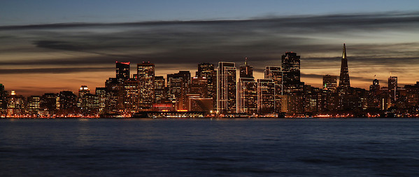 SF skyline, Golden Gate and Bay Bridge Dec 26th, 2013