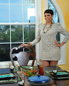 Shaunie O'Neal and Family at home Ebony Photo Shoot. Shaunie O'Neal Valerie Goodloe