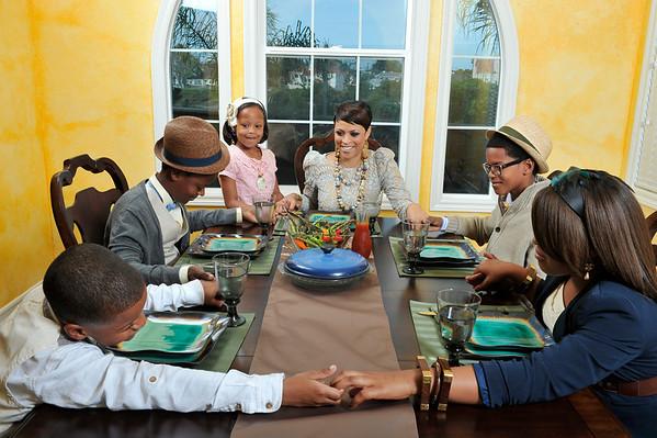 Shaunie O'Neal and Family at home Ebony Photo Shoot. Shaunie O'Neal and daughters Me'Arah 5 years and Mimi 9 years Boys Myles 14, Shareef 11, Shaqir 8 Valerie Goodloe