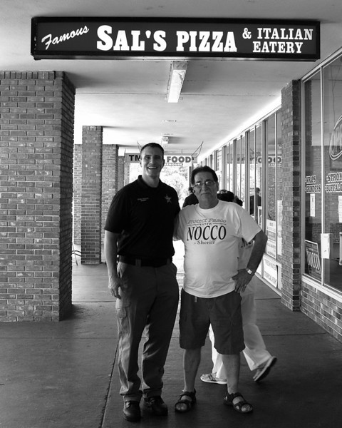 Sheriff Chris Nocco and Famous Sal