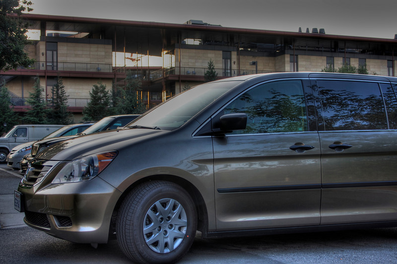 Van ready to depart for SIGCOMM (Tone Mapped HDR photo)