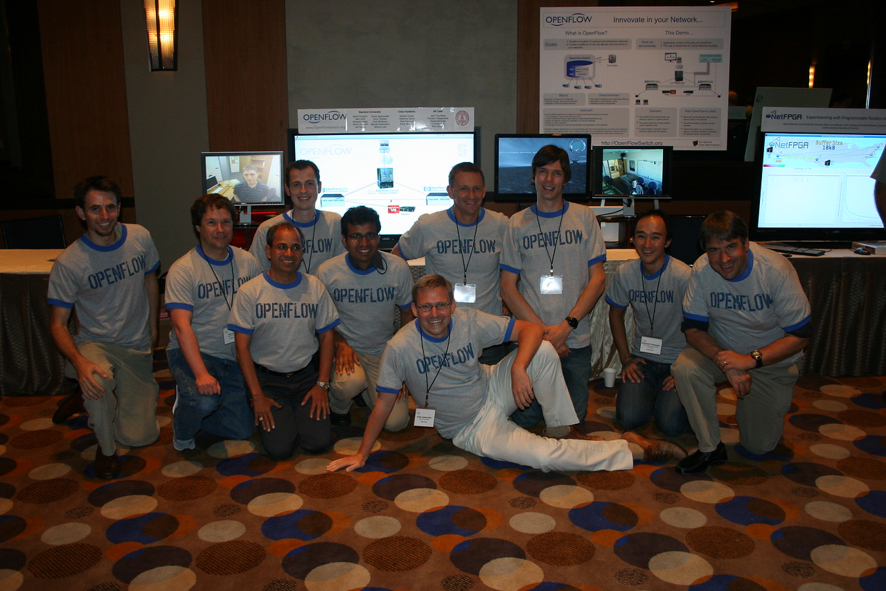 The OpenFlow demo crew.