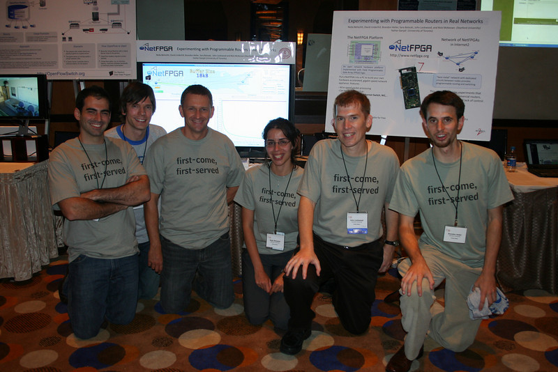 The NetFPGA demo crew.