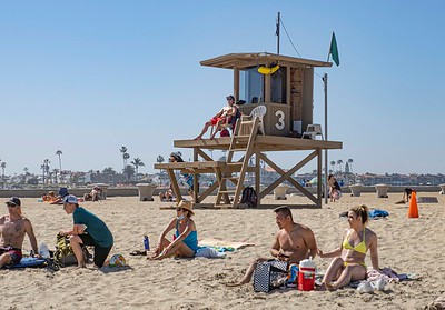 ...all supervised by Newport lifeguards