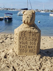 Words to live by written in sand