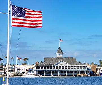 Our Flag and Balboa Pavillion on July 4th