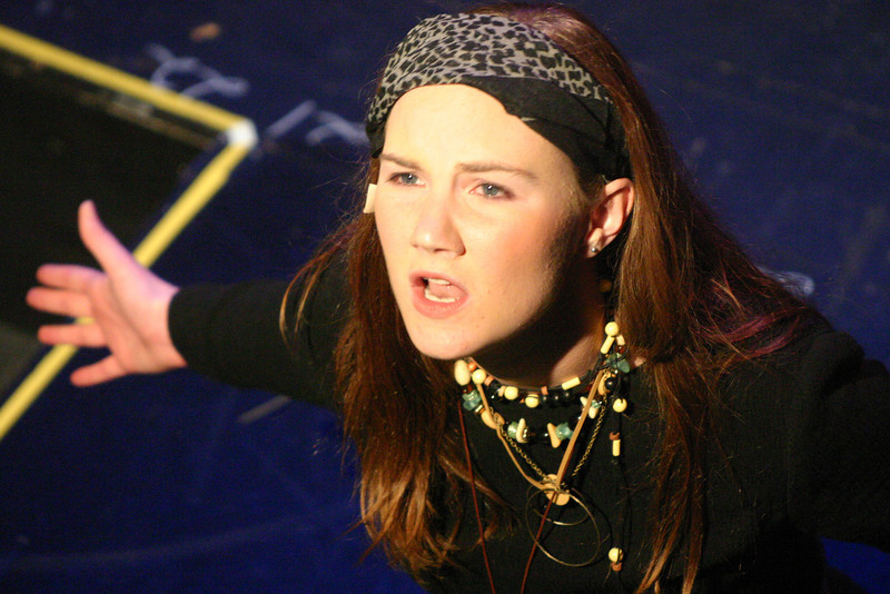 """On the verge of tears, junior Sarah Casey plays the lead role, Aida, singing the   song 'As Easy As Life.' The song was about her life in Egypt while being a slave. """"Even though the song was called 'As Easy As Life,'"""" Casey said, """"this song was not as easy as life."""""""