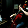 sophomore Ellen Ramsey plays cello backstage for aida.