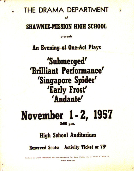 1957-1958 An Evening of One Act Plays