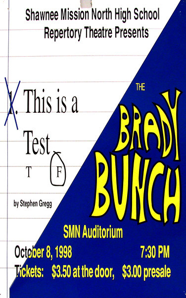 1998-1999 Rep Theatre This is a Test - The Brady Bunch