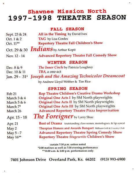 1997-1998 A Season Poster