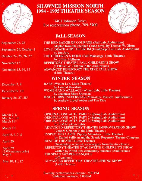 1994-1995 A Season Poster
