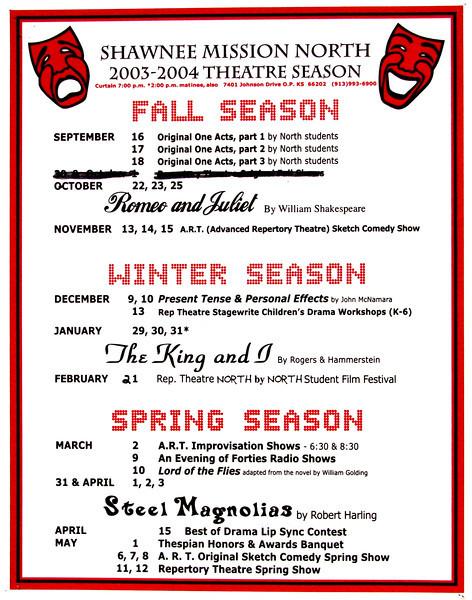 2003-2004 A Season Poster