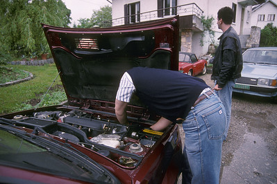 Checking the levels of the Lancia Delta Integrale 16v.