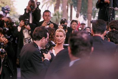 Saturday before the race, visit to the Cannes film festival (no idea who she is).