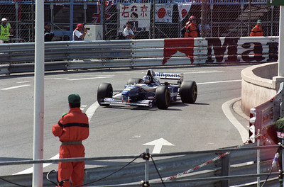Damon Hill in action.