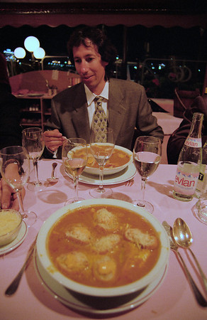 The Rally dinner, bouillabaise in Cannes.