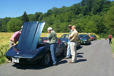 On the way to bring the Corvette back home, also its engine dies.