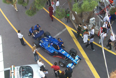 Monte Carlo pit lane after the race.