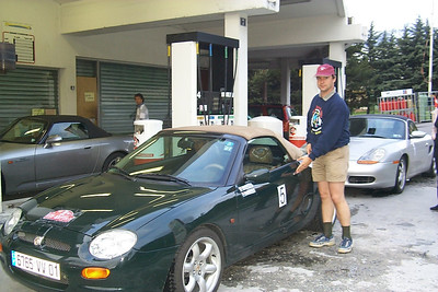 This year I was teamed up with Eric. We drove Eric's MG (to the ground).