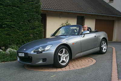 Maarten in his Honda S2000.