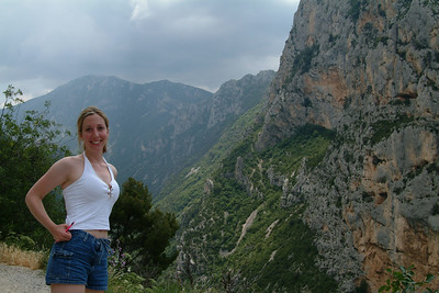 Jen, my co-pilot, at the Gorges du Verdon.