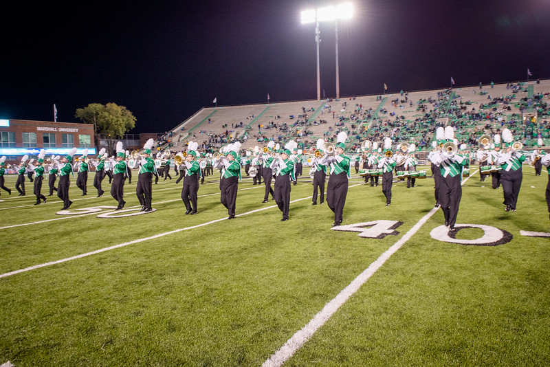 Marshall University football vs. UNC Charlotte at Joan C. Edwards Stadium on the campus of Marshall University in Huntington, WV.  October 22, 2016.  (J. Alex Wilson)