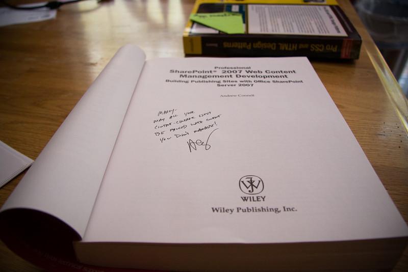 Look!  I got AC's autograph!!!