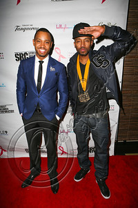 LOS ANGELES, CA - JUNE 29:  Actor Terrence J (L) and producer Drumma Boy attend Steve Rifkind's Pre-BET Awards celebration honoring BET nominee Melanie Fiona at Nobu on June 29, 2012 in Los Angeles, California.  (Photo by Chelsea Lauren/WireImage)