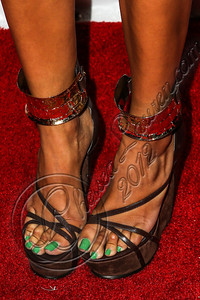 LOS ANGELES, CA - JUNE 29:  Recording artist Letoya Luckett (shoe detail) attends Steve Rifkind's Pre-BET Awards celebration honoring BET nominee Melanie Fiona at Nobu on June 29, 2012 in Los Angeles, California.  (Photo by Chelsea Lauren/WireImage)