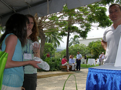 Bill Lindstaedt providing a resume critiques and career counseling at SSR 2008 in Kailua-Kona, Hawai'i (May)
