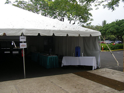The Exhibit Tent at SSR 2008 in Kailua-Kona, Hawai'i (May)