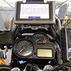 View of the cockpit shows GPS, dry box for iPod or phone and video recorder at left.