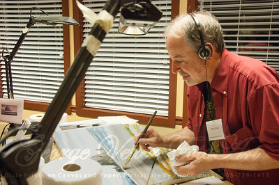 Artist Walter Share (Oregon Gallery) at Stormy Weather Arts Festival Quick Draw event at Tolovana Inn
