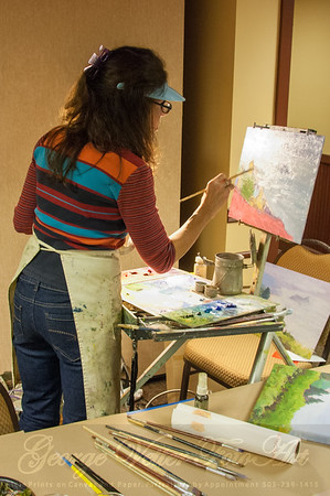 Artist at Stormy Weather Arts Festival Quick Draw event at Tolovana Inn