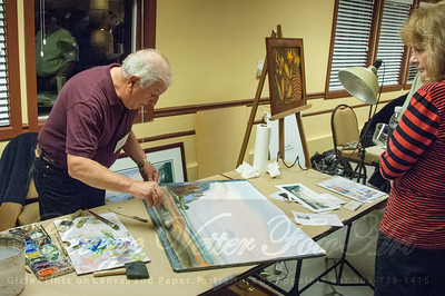 Artist John Ebner (Haystack Gallery) at Stormy Weather Arts Festival Quick Draw event at Tolovana Inn