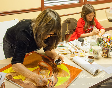 Artist Miska (DragonFire Gallery) at Stormy Weather Arts Festival Quick Draw event at Tolovana Inn