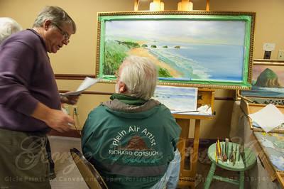 Artist Richard Gorsuch at Stormy Weather Arts Festival Quick Draw event at Tolovana Inn