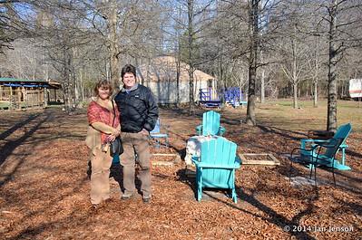 Maria and Eric Stine - yurt in background