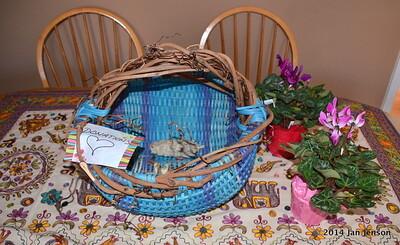 Robbie's donation basket
