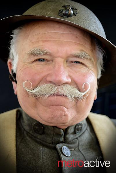 Ed Archer wears a World War I Marines uniform