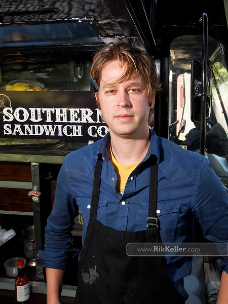 """P4303811<br /> Nathan Niebergall of The Southern Sandwich Company (San Francisco)<br />  <a href=""""http://www.southernsandwich.com"""">http://www.southernsandwich.com</a>"""