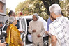Principal of SPJ Sadhana School, Sr Gaitonde welcomes former president DR APJ Abdul Kalam as Mrs Durga Jain looks on