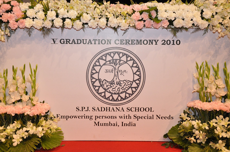 The stage is set for the fifth graduation ceremony of SPJ Sadhana School, Mumbai on March 10, 2010