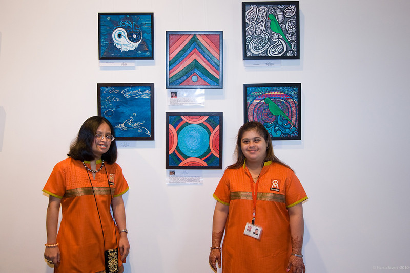 Vinati & Natasha with their work (the two in the center)