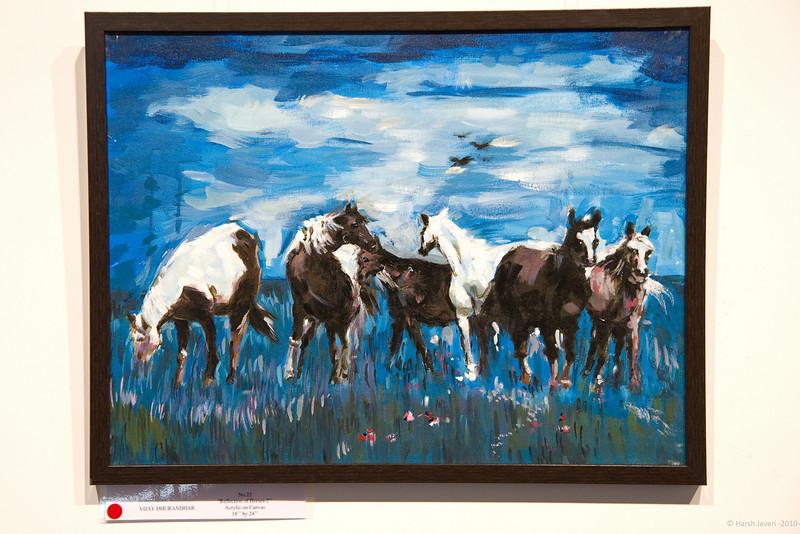 Reflection of horses by Vijay Dhurandhar