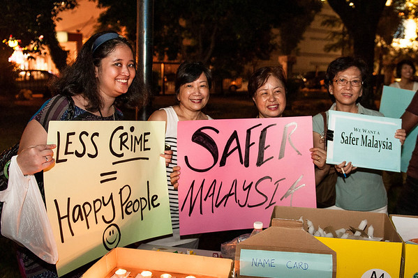 Safer Malaysia Candlelight Vigil 1 Aug 2012