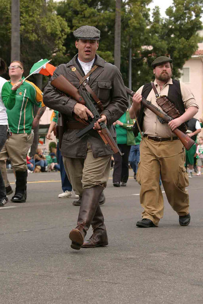 """""""Off To Dublin In The Morning""""  These reenactors portray the IRA Flying Columns who fought in the war for Irish Independence in the early 20th Century."""
