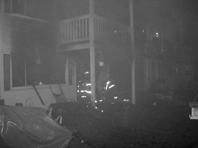 Salem Fire in Black and White
